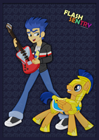 Flash Sentry_Human and Pony by jucamovi1992