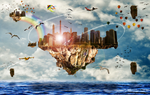 The Floating Cities by MeRi-SlOt