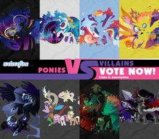 WLF Ponies VS Villains Entries by SpaceKitty