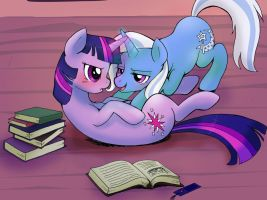 I'm trying to read.... by MMMenagerie