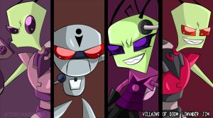 Villains of Doom- Zim Style by Grim-Raider