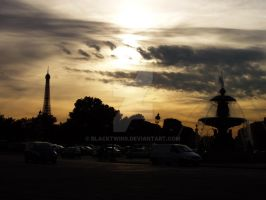 sunset in paris. by blackTWINS