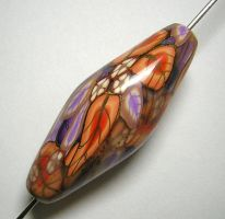 Leafy Beauty Focal Bead by eerok1955