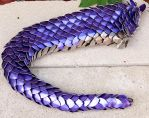 Purple and Steel Dragon Tail with Engravings by DracoLoricatus