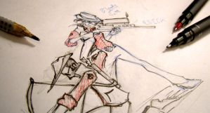 TeamFortress sniper Sketch WIP by hazamzam