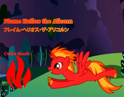 Flame Helios The Alicorn by CreativeArtist-Kenta