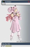 Gijinka Pokemon 036 Clefable by saurodinus
