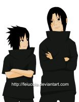 Itachi and Sasuke:brothers by Feiuccia