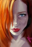 Redheadface by scottssketches