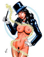 Naughty Zatanna commission by gb2k
