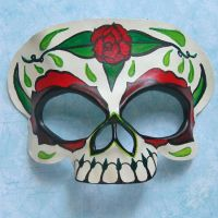 Skull and Roses by Beadmask