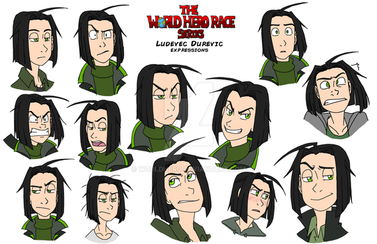 WHR Series: Ludey's Expression Sheet by WorldHero