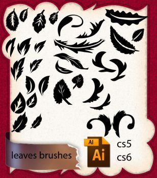 Leaves Brushes by roula33