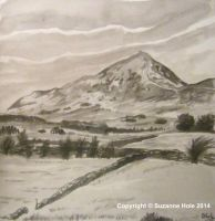 Drawing for Day 21 of Inktober - Croagh Patrick by SuzanneHole