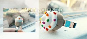 Cupcake ring by EliseEnchanted
