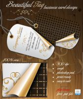 Beautiful Tag Business Card by alpha-100