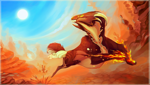 Blaze Light | Steppe Sprint by IrisDesert
