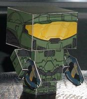 Master Chief Cubee by paperart