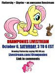 Livestream SATURDAY October 6 from 3 to 6 pm EST by drawponies