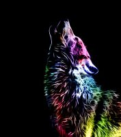 Fractal Wolf by minimoo64
