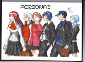 Persona 3 cast -Persona 3- by Freakmasta