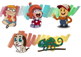 Different styles of cartoon by juananibalcanto