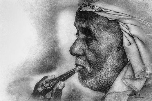 Smoking Man by brik-art