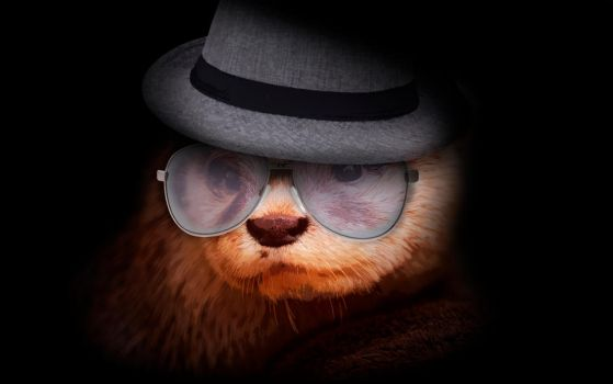 -- Otter with hat -- by 0l-Fox-l0