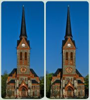 Neo-gothic Church 3D :: Cross Eye Stereoscopic HDR by zour
