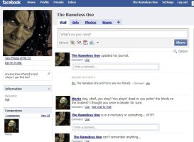 The Nameless One Fakebook by Philiposophy
