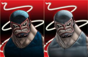 Bane-Luchador Colors by Smitty-Tut