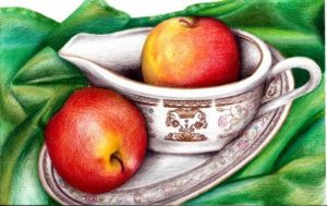 Fruit, Cup, and Saucer by SnowyBunny16