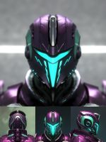 Planetside 2 Vecter Helmet by digital-shuriken