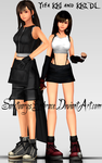 {MMD Download} KH1 + KH2 Tifa by SanctuarysEmbrace