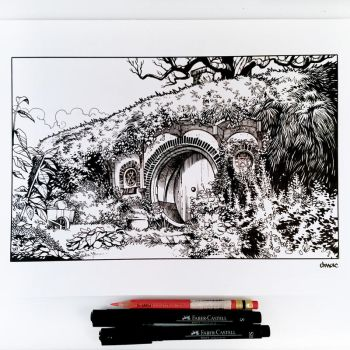 Inktober Day 30 - Bag End by D-MAC