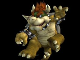 Kung Fu Bowser by silverhammerbro