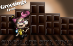Chocolate City Post Card by Kops-the-Jidiot