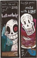 Horrortale Bookmarks by The-real-Vega777