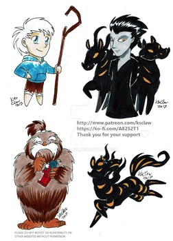 misc rotg chibis by ks-claw