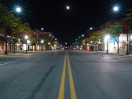 Night Shot: Down the Road by i64X