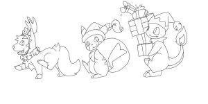 Christmas March Lineart by NeoTheBean