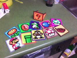 Mario Coaster Set Expanded by PixelSculptures