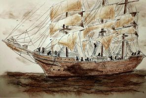 Maritime Sketch by CpointSpoint