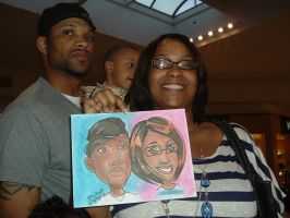 Mall Caricatures 1 032812 by raccoon-eyes
