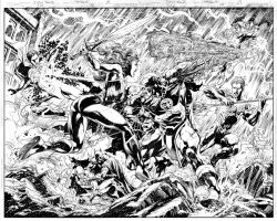 JUSTICE LEAGUE Issue 08 Pages 18 n 19 by JoePrado2010
