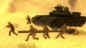 Tank:we lost leg but we still have mouth,charge! by CCCP-OMON