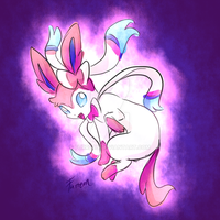 Sylveon glowing by Furreon