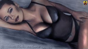 Catherine Bell drawing by Euderion