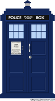 Vector TARDIS by Psywing
