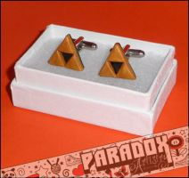 Zelda Triforce Cuff Links by Paradox-Artistry